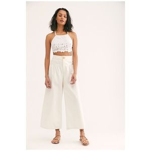 Free People Bomba Wide-Leg Jeans Pants New Ivory